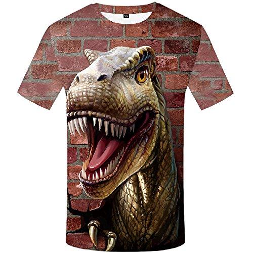 Zaima 3D Printed T-Shirt Short Sleeve Round Neck Men's Casual Top