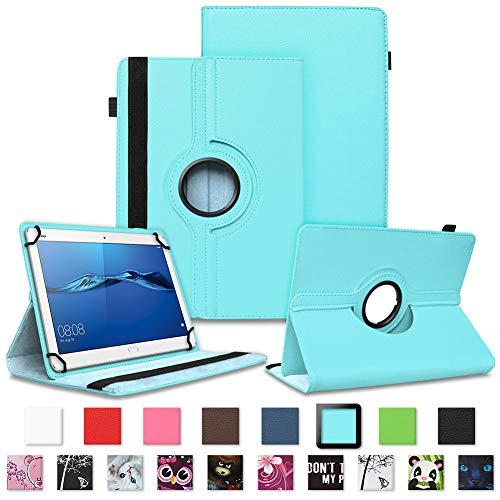 NAUC Tablet Tasche für Huawei Mediapad X2 Hülle Schutzhülle Cover Schutz Hülle Drehbar, Farben:Türkis