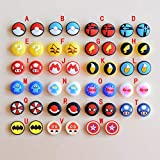 Silicone Analog Thumb Grip Stick Set Joystick Cap Thumbstick Cover Caps for Nintendo Switch NS Switch Lite Console Joy-Con Controller Thumbsticks Cap (S)