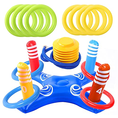 Inflatable Pool Ring Toss Pool Game…
