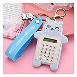 ZANZAN calculadoras Pantalla De La Calculadora Linda Portátil Mini Oso De La Calculadora De 8 Dígitos con La Calculadora del Tamaño del Bolso calculadoras Básicas (Color : Blue)
