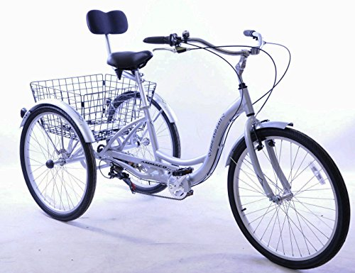 AMMACO FREE AND EASY 26' WHEEL ALLOY 3 WHEEL ADULT TRICYCLE,CARGO TRIKE...
