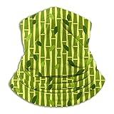 Lawenp Bambú. patrón bufanda de cara calentador de orejas para clima frío para hombres mujeres