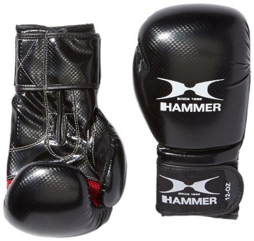 HAMMER Boxhandschuhe X-Shock, Schwarz/Rot, 12 OZ