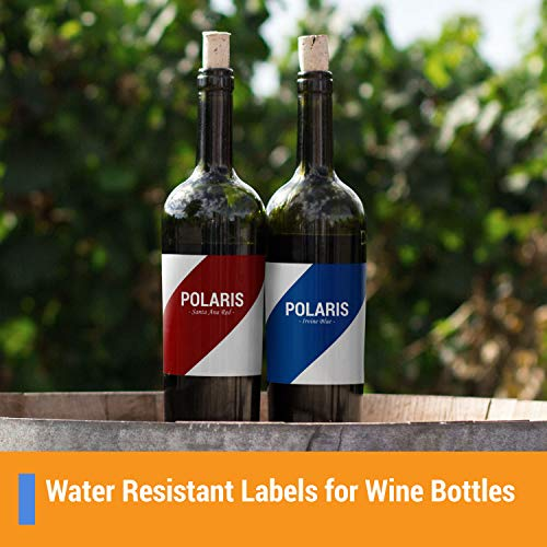 OfficeSmartLabels Rectangular 4-1/4 x 5-1/2 Shipping/Wine Bottle Labels for Laser & Inkjet Printers, 4.25 x 5.5 Inch, 4 per Sheet, White, 600 Labels, 150 Sheets Photo #4