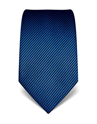 Vincenzo Boretti Corbata de hombre en seda pura, de rayas azul real