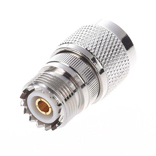 SODIAL (R) Gerade N Stecker auf SO-239-Kupplung Koax-Adapter-Verbinder UHF