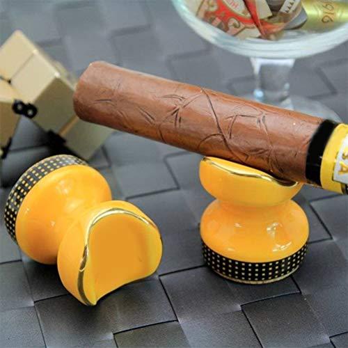 Atrumly Zigarrenablage, 2 Stück, tragbarer Keramik-Zigarrenhalter, Ständer, Raucherablage, Reise-Zigaretten-Aschenbecherhalter, Zigarren-Zubehör-Set, Geschenk für Herren, Taschenaschenbecher