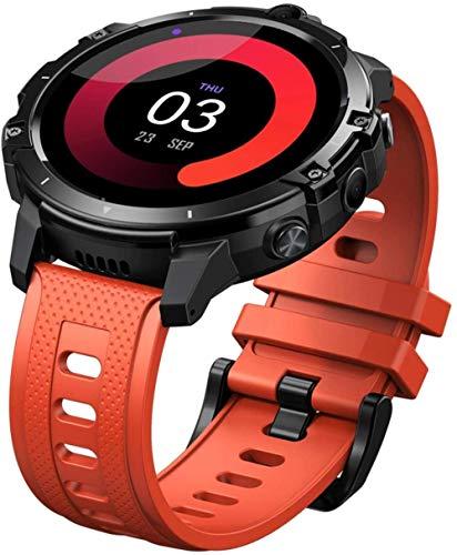 Fitness Smart Watch 1.6 pulgadas IPS pantalla táctil completa 4+64GB memoria 5MP+5MP cámaras 830Mah batería 4G Global Bandas pulsera Negro-Naranja