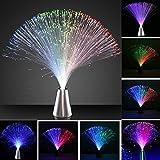 OSALADI 4 unidades de fibra de vidrio que cambia de color, funciona con pilas LED, fibra de vidrio, lámpara de hielo de fibra de vidrio, juguete para Navidad y Año Nuevo
