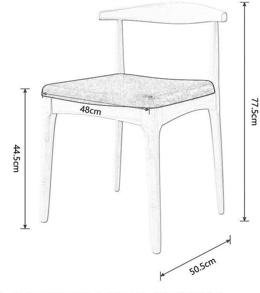 Chaise salle à manger, coin cuisine Accueil Table Chaise PU Coussin en cuir Chaise de conférence Dossier de réception (Color : Light walnut) Walnut