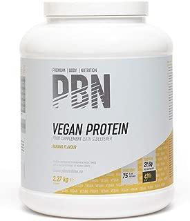 PBN - Bote de proteínas para veganos, 2.27 kg (sabor plátano)