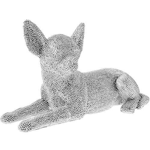 Leonardo Silver Diamante Laying Down Chihuahua Ornament