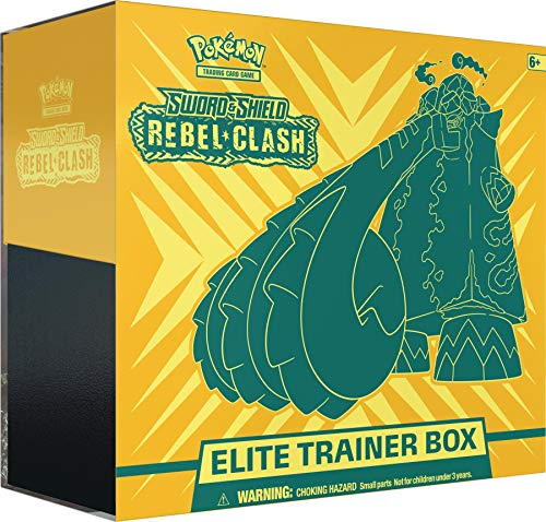 Pokémon POK80700 TCG: Zwaard & Schild 2 Rebel Clash Elite Trainer Box, Multi