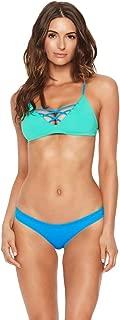 LSpace 2 Piece Bikini Set - Reversible JoJo Strappy Cross Front Bralette Swimsuit Top & Sandy Hipster Bottom M/S