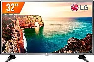 """TV LED 32"""" LG 32LT330HBSB 2 Hdmi 1 Usb Pro Conversor Digital Bivolt, Preta"""