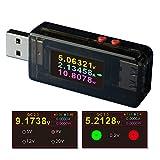 USBテスター 電流電圧テスターチェッカー クイックバッテリー充電器検出器 DC5.0000A 24.0000V充電器 容量テスタ ートリガー 急速充電QC2.0 3.0に適応 日本語説明書付 (A1)