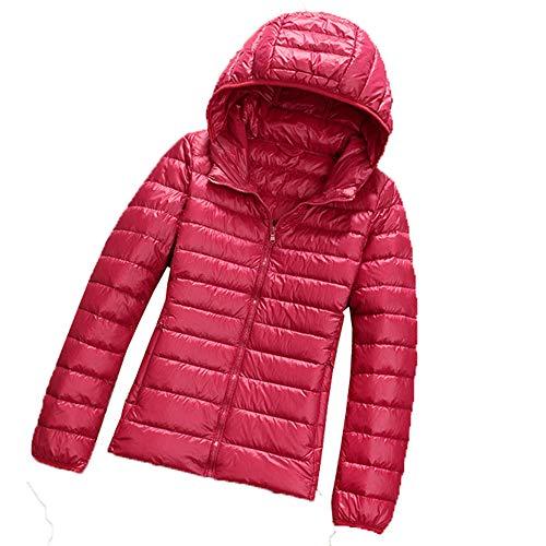 x8jdieu3 Herbst- und Wintermode leichte Daunenjacke Damenhemd mit Langen Ärmeln Kapuze Kurze große Damenjacke Schlanke warme Jacke