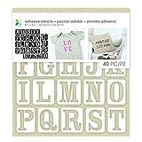 Momenta Uppercase Serif Alphabets Adhesive Fabric Stencil