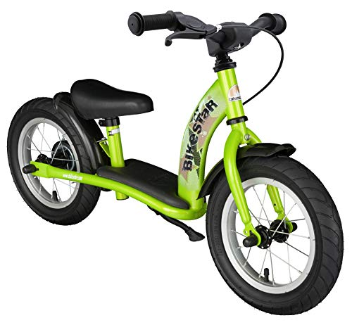 BIKESTAR Kinder Laufrad Lauflernrad Kinderrad für Jungen und Mädchen ab 3 - 4 Jahre | 12 Zoll Classic Kinderlaufrad | Grün | Risikofrei Testen