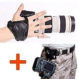 WITHLIN Kit de fotografía - botón de hebilla de cinturón de cintura + cámara agarre muñeca banda correa para cámara SLR réflex digital (Canon Nikon Sony Pentax Olympus, etc.)