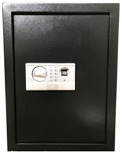 Digital Electronic Flat Recessed Wall Hidden Safe Security Box Jewelry Gun Cash (Biometric Fingerprint Black)