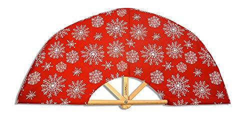 SAUNAGUT 003AFS-sflo-Aufgussfächer-STANDARD Farbe: rot/Schneeflocken