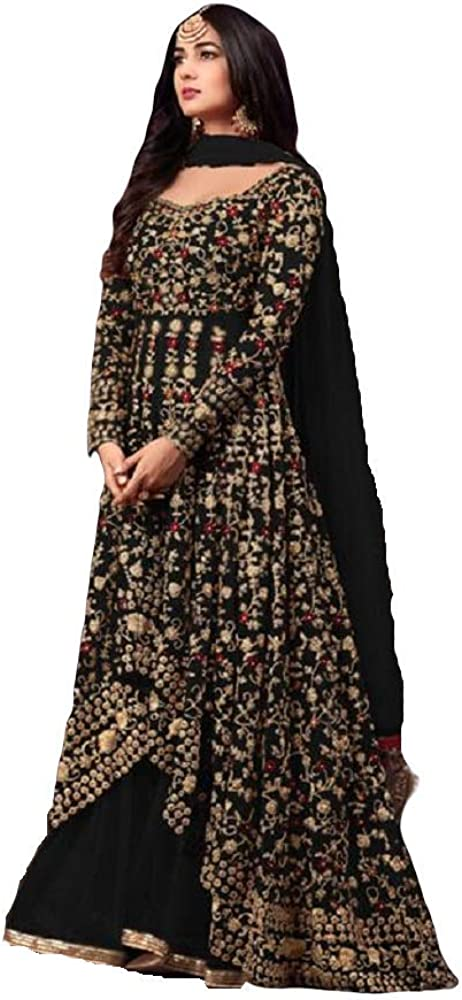 Heni Fashion Ready to Wear Bollywood Style Party Wear Wedding Wear embroidered Long Anarkali Suit For Women