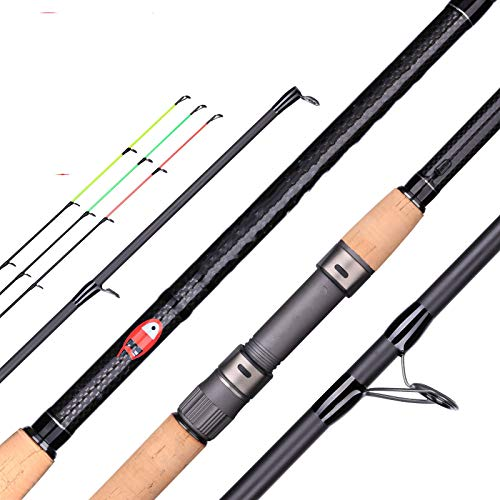 DUOHAOYI Active Feeder Fishing Rod 3.0/3.6/3.9m Spinning Casting Travel Rod Fuji A-Ring Guide carp Feeder Action max 160g-3.6m