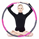 KXCFCYS Fitness Hula Hoop Démontable 1 KG pour Exercises Hula-Hoop Léger et Portable (Pink&Gray)