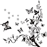 Fliyeong Stockton Stickers Muraux de Papillons DIY Transparent Amovible Autocollants...