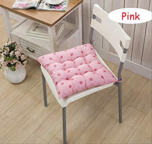 NoNo Lange vierkante kussens mat voor schommels rotan stoel Folding Dicktuin zon Lounge Seat Kussen Bank Tatami Mat 40x40cm roze