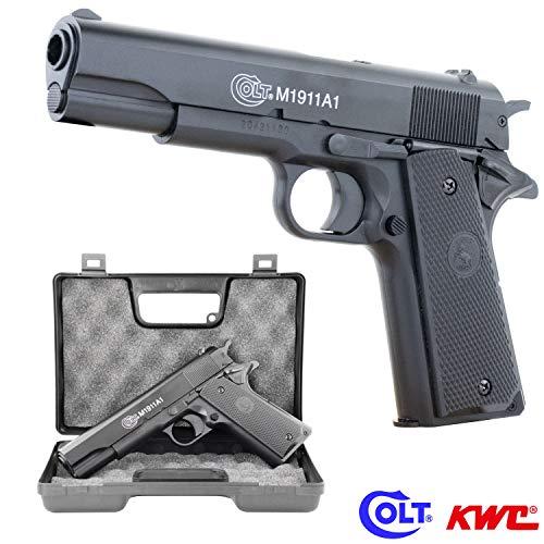 SWE Softair Pistole COLT 1911 mit Metallschlitten HPA-Serie BAX-System Kal. 6mm BB <0,5 Joule im GRATIS hochwertigen Transportkoffer