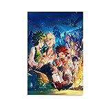 tongton My Hero Academy - Póster decorativo para pared, diseño de la Academia de la Cena de la Fiesta de la Cena (20 x 30 cm)