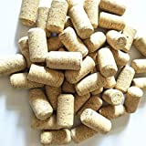 """Enkrio #8 Natural Wine Corks Straight Cork Wine Stoppers for Bottling of Wines 1-3/4"""" x 7/8"""" - Pack of 50"""