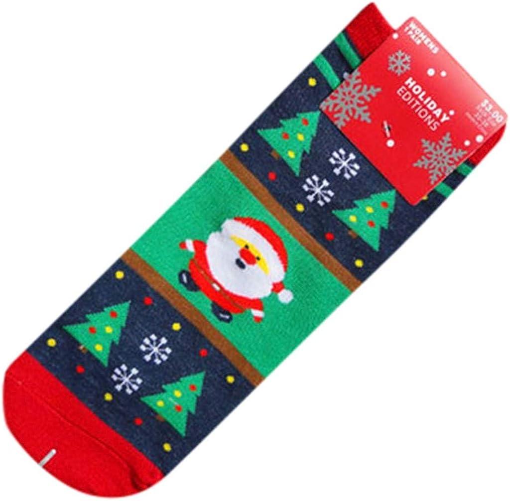 FIRERO Women Snowman Christmas Cotton Socks Girl Winter Home Socks Bed Socks Mid Tube Socks