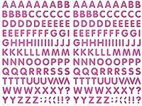 (シャシャン)XIAXIN 防水 PVC製 アルファベット ステッカー セット 耐候 耐水 ローマ字 キャラクター 表札 スーツケース ネームプレート ロッカー 屋内外 兼用 TS-541 (2点, ピンク)