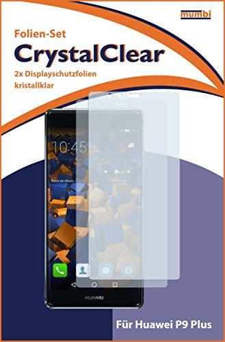 mumbi Schutzfolie kompatibel mit Huawei P9 Plus Folie klar, Displayschutzfolie (2X) - 3