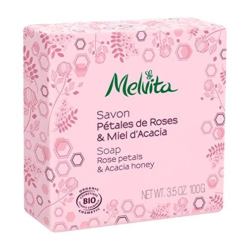Melvita - Savon Visage Et Corps Bio 100g Melvita - Petales De Roses & Miel Acacia