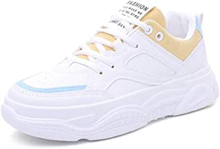 KINDOYO Womens Trainers - Beautiful Appearance Anti-Collision Toe Cap Sport Shoes Fashion White