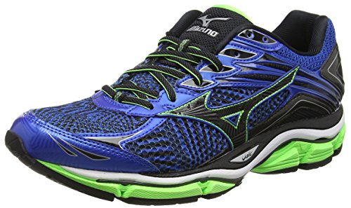 Mizuno Wave Enigma 6 - Zapatillas de running unisex, Color Azul (Skydiver/Black/Greengecko) , 44 EU