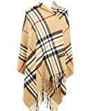 2 PLY 100% Cashmere Scarf BLANKET Collection Made in Scotland Wool Solid Plaid (Camel Nova Tartan)