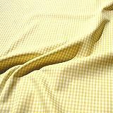 Stoff am Stück Stoff Baumwolle Vichy Karo gelb weiß 2,5