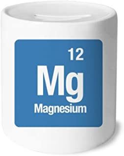 DIYthinker MG de magnesio Elemento químico Chem Caja de Dinero de Las Cajas de ahorros de cerámica Adultos Moneda de la Caja para niños
