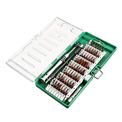 Bricolaje y herramientas 60pcs multifunción mini destornillador juego de tornillos de hardware reloj de la joyería electrónica de la reparación kit de herramientas de la combinación ( Color : Green )