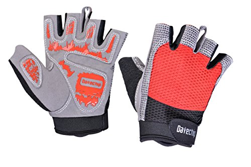 Datechip Bike Gloves Fingerless Cycling Gloves Gel Padded for Biking Mountain Bike Climbing Road Bike Women and Men Gloves