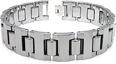 Titanium Kay Tungsten Carbide 16MM Men's Link Bracelet (Length 7
