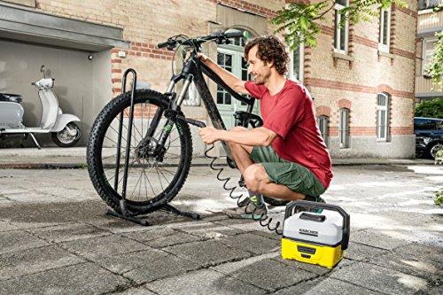 Kärcher Mobile Outdoor Cleaner OC 3 Bike Box (Wassertankvolumen: 4 l, Lithium-Ionen-Akku, abnehmbarer Wassertank, schonender Niederdruck, Universalbürste, Motorrad-/Fahrradreiniger, Mikrofasertuch) - 3