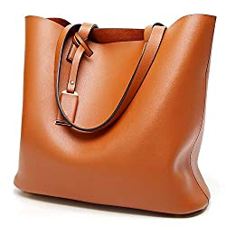 Large brown tote with strap perfect for shopping one of the best large inexpensive handbags under 20 dollars