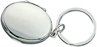 Oval Shaped Locket Key Chain- Holds 2 Photos in the size 1 x 1.25